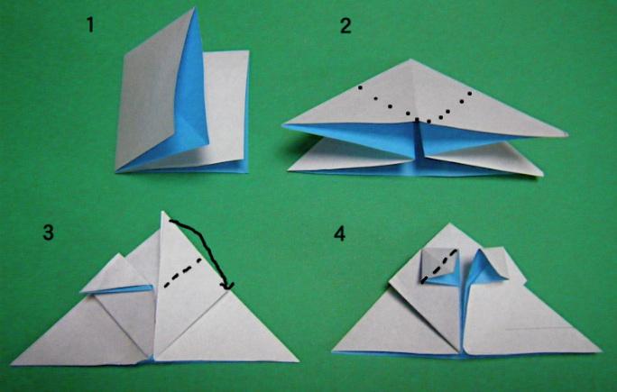 すべての折り紙 折り紙 帽子 立体 : ... の破片:《折り紙 雪だるま
