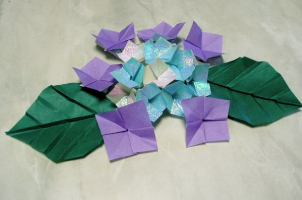 折り 折り紙 折り紙 紫陽花 : matome.naver.jp