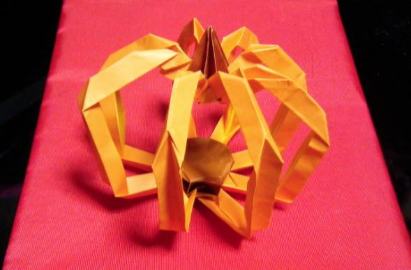 折り紙・かぼちゃ》 : かぼちゃの折り紙 : すべての折り紙