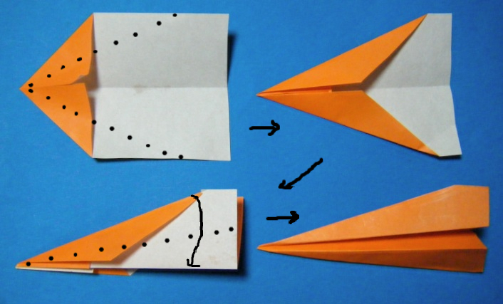 飛行機 折り紙 飛行機 折り紙 : blog.livedoor.jp