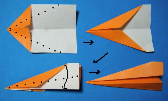 花 折り紙 紙飛行機 折り方 正方形 : divulgando.net