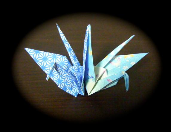 すべての折り紙 鶴の折り紙 : 永遠の破片:《折り紙 連鶴・妹 ...