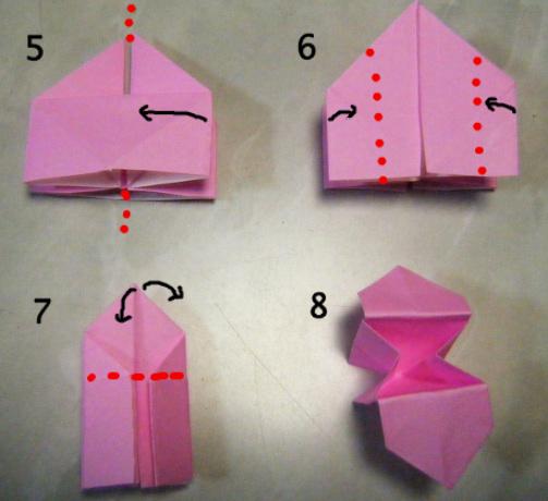 すべての折り紙 長方形 折り紙 鶴 : 折り紙・ひな祭りのお菓子 ...