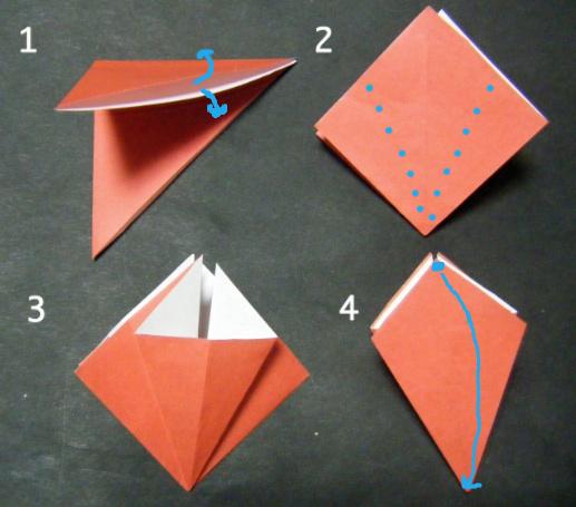 花 折り紙 彼岸花 折り紙 折り方 : ... の破片:《折り紙 柿の折り方