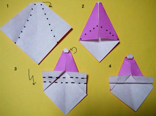 すべての折り紙 折り紙サンタの作り方 : preview