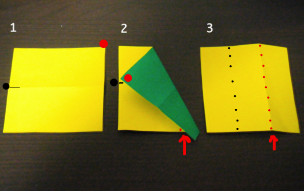 永遠の破片:《折り紙を3等分する...