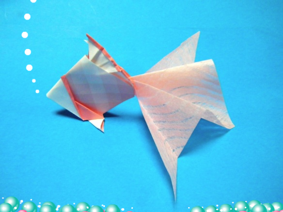 折り紙 金魚の折り方》 : 七夕 折り紙 折り方 : 七夕