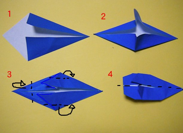 永遠の破片:《折り紙 クジラの ...
