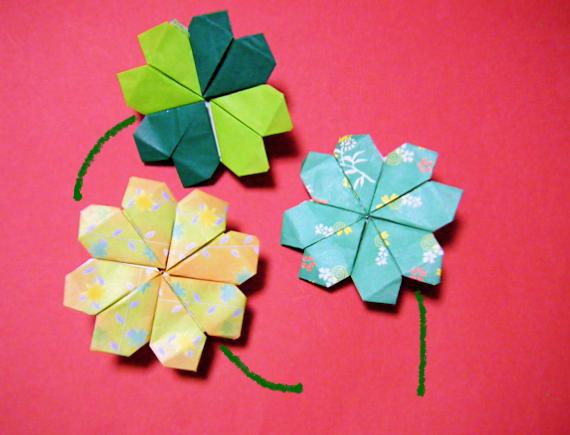 ハート 折り紙 簡単 ハート 折り紙 : 折り紙 ハートとクローバー ...