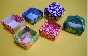 折り紙 枡(箱)》