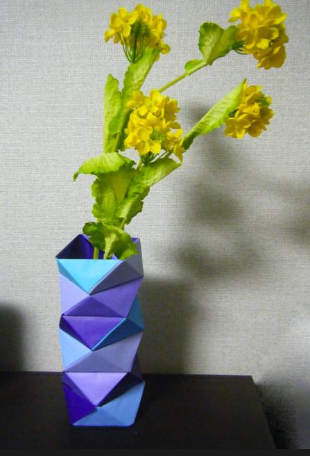 簡単 折り紙:折り紙 花瓶-blog.livedoor.jp
