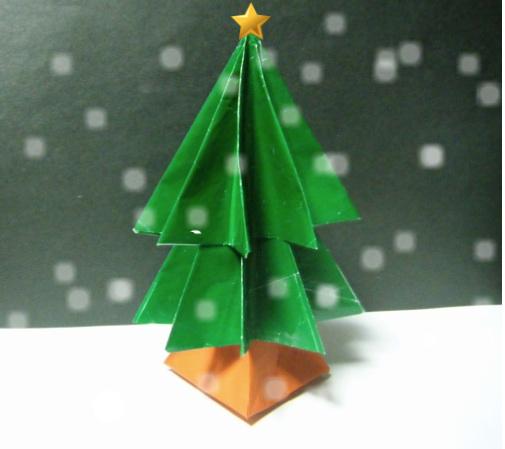 すべての折り紙 飾り付け 折り紙 : 折り紙 クリスマスツリー》