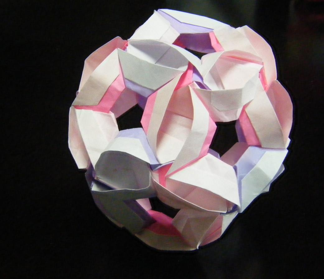 すべての折り紙 折り紙 くす玉 ユニット : ... :《ユニット折り紙 ぶくぶく