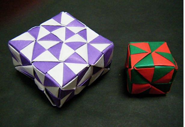簡単 折り紙:ユニット折り紙多面体作り方-divulgando.net
