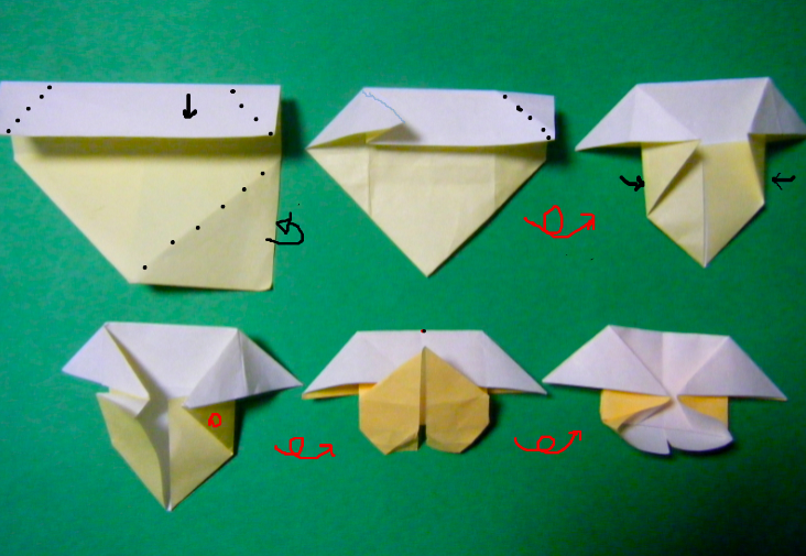 折り紙の 折り紙のハートの折り方 : blog.livedoor.jp
