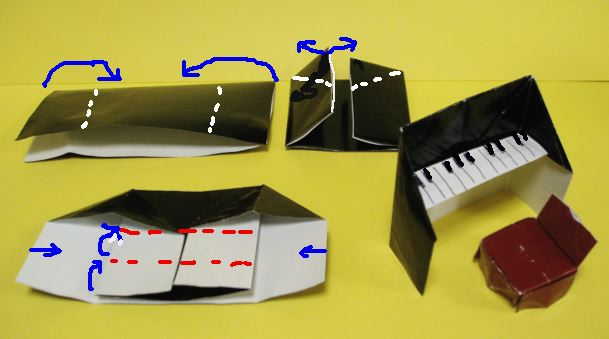 クリスマス 折り紙 折り紙 ピアノ : blog.livedoor.jp