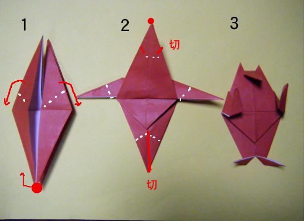 ハート 折り紙:折り紙 サイコロ 作り方-divulgando.net