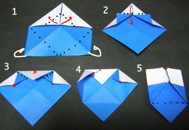 ハート 折り紙 : 折り紙 やっこさん 作り方 : divulgando.net