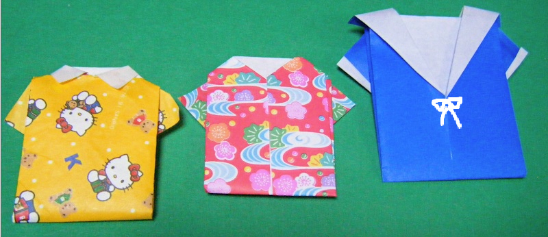 クリスマス 折り紙:折り紙 シャツ-blog.livedoor.jp