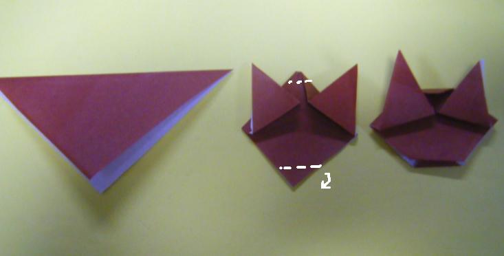 折り方 雛人形折り紙折り方立体 : ... 後ろ に 少し 折る 顔 折り 方