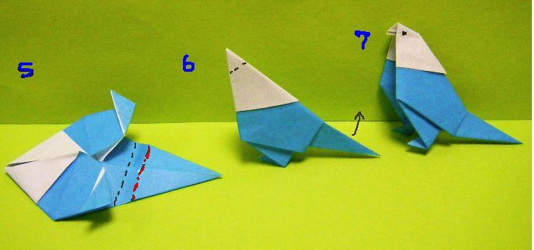 クリスマス 折り紙 折り紙 鳥 : divulgando.net