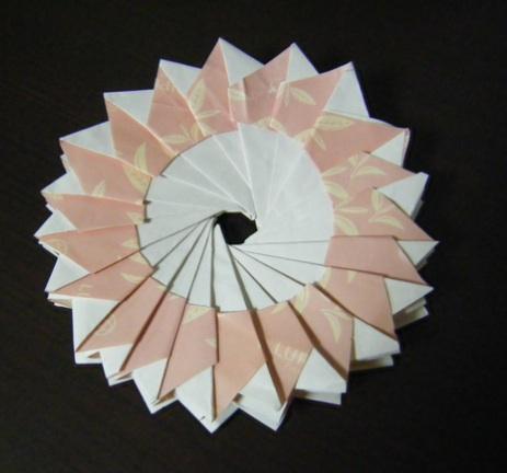 ハート 折り紙 折り紙鍋敷き作り方 : blog.livedoor.jp