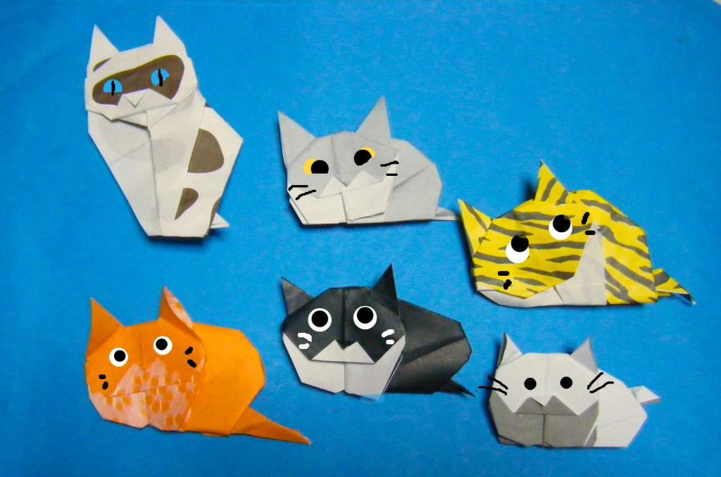 すべての折り紙 折り紙 ネコ : ... 本に載っていたネコの折り紙