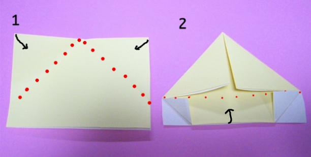 すべての折り紙 帽子の折り方 折り紙 : と 完成 帽子 の 折り 方 長方形 ...