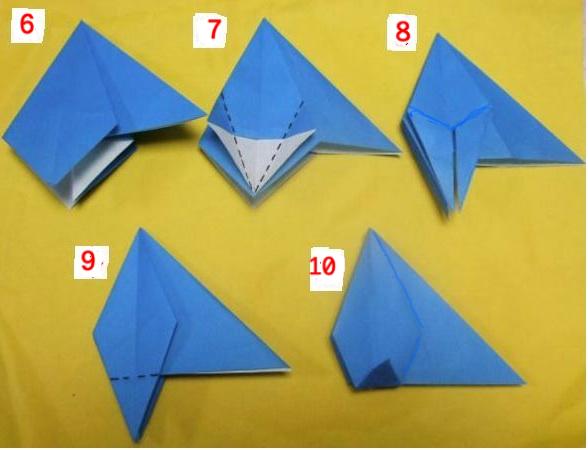 すべての折り紙 七夕 折り紙 くす玉 : 6 3ヵ所でこのダイヤ型を ...