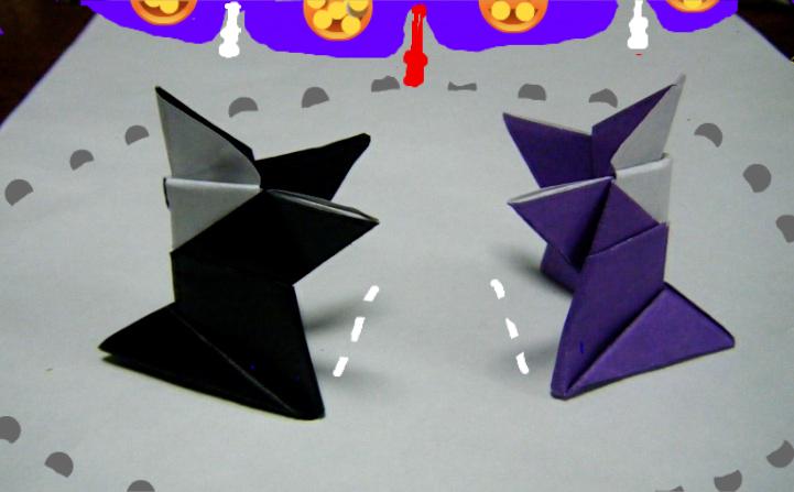 すべての折り紙 折り紙で箱を折る : ... という遊べる折り紙でした