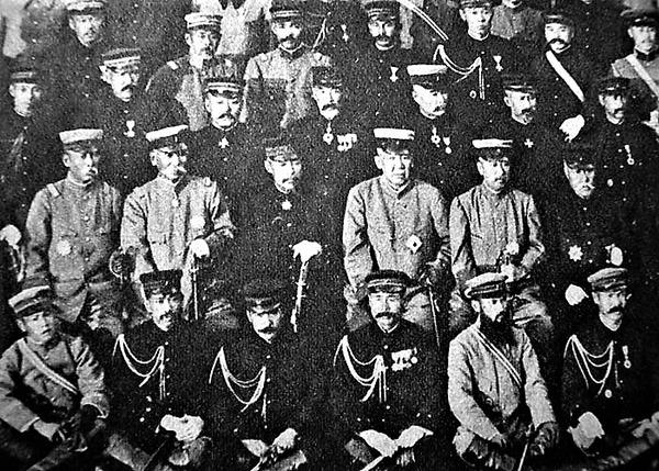((第二軍司令官、師団長軍司令官の奥保鞏、大山