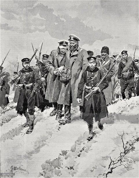 (((H日本兵に護衛されたロシア人捕虜