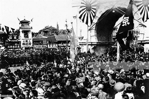 (((祝1905年10月22日、平島東郷提督の東京への復帰