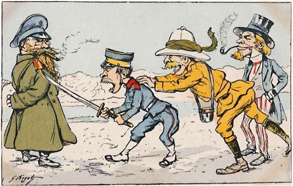 (((1904年日本はロシアを攻撃米英は見物