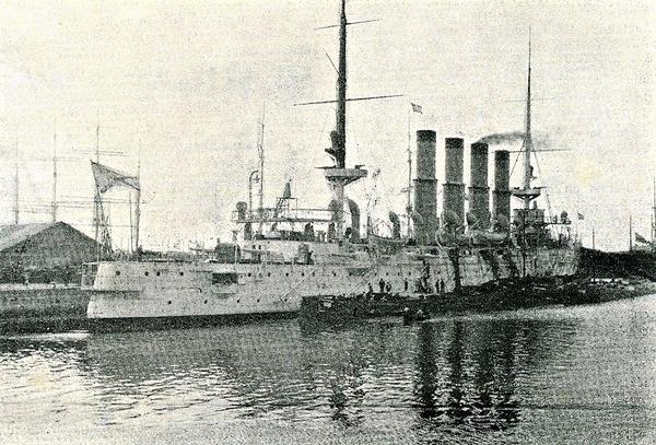 (((停泊中のヴァリャーグVaryag_1904