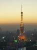 041116sunset-t_prince 東京タワーとプリンスホテル