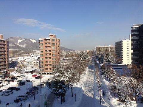 170106 朝の雪景色6階