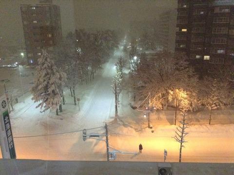 161222 夜の雪景色