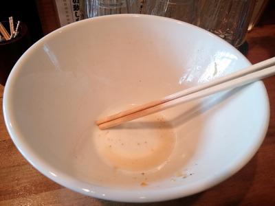 麺処ゆきちのラーメンを完食