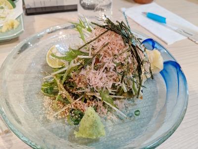 カンパチと水菜のゴマ和え