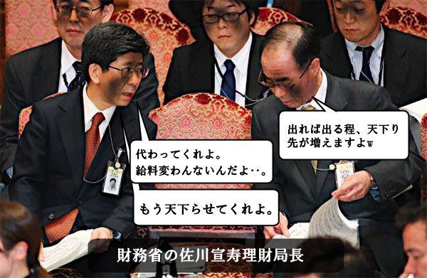 財務省の佐川宣寿理財局長w