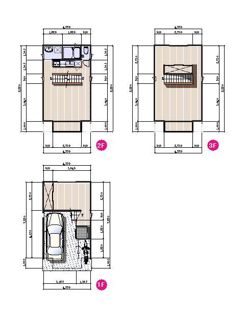 プラン - 狭小地 住宅に役立つ情報-山本設計事務所
