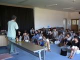 鶴ヶ丘小学校就学時健診時の歯科指導20122�