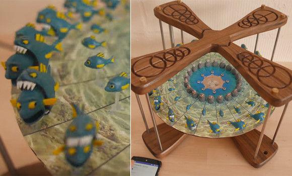 やだずっと見入っちゃう。オリジナルの立体アニメーションも作れる卓上メリーゴーランド。3Dゾエトロープ(回転のぞき絵)
