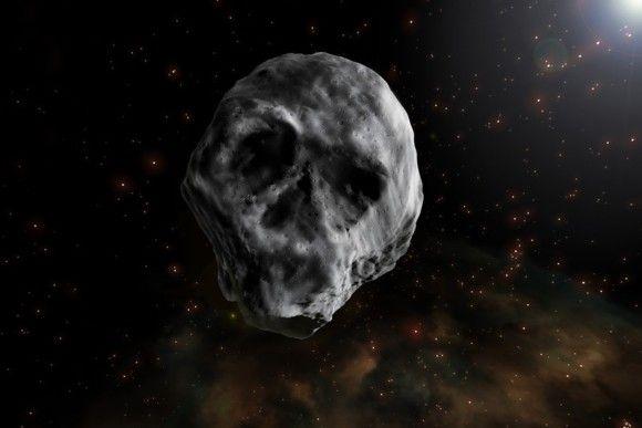 ドクロのような屍の小惑星「2015 TB145」が2018年11月頃、再び地球に接近