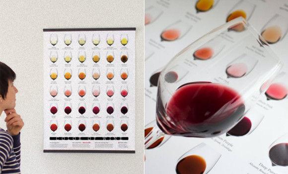 ワインの繊細なる色の違いが一目でわかる「ワイン・カラーチャート」
