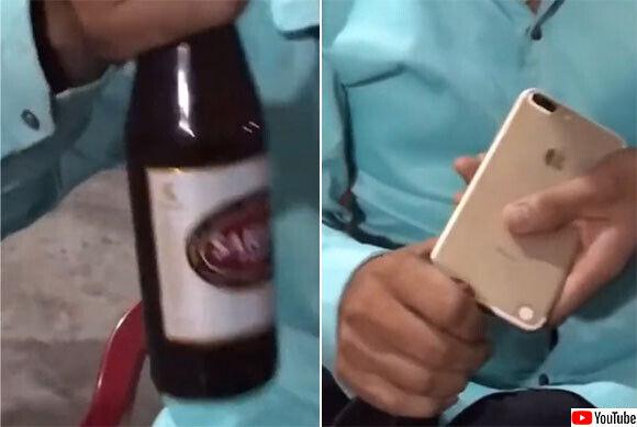 ノーライフハック。iPhoneでビール瓶の蓋を開けてはいけない