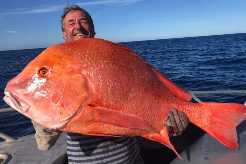 赤くて大きい!全長104センチ、体重22キロの巨大魚が釣り上げられる(オーストラリア)