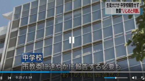 【報告失念】広島:中2男子 、同級生からいじめを受け、「両手首の骨折、左腕の骨を折る大けが」学校側はおよそ1か月間報告せず放置