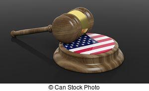 法廷-ハンマー-で-アメリカの旗-ストックイラスト_csp35217156
